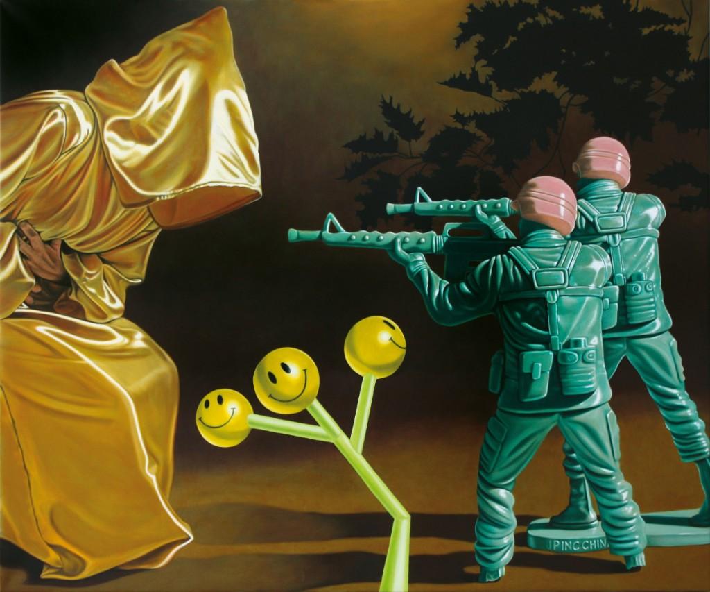 Archont:Billige Show, Öl/Lwd., 120 x 100 cm, 2014 Archont:Cheap Show, Oil/Cvs., 120 x 100 cm, 2014